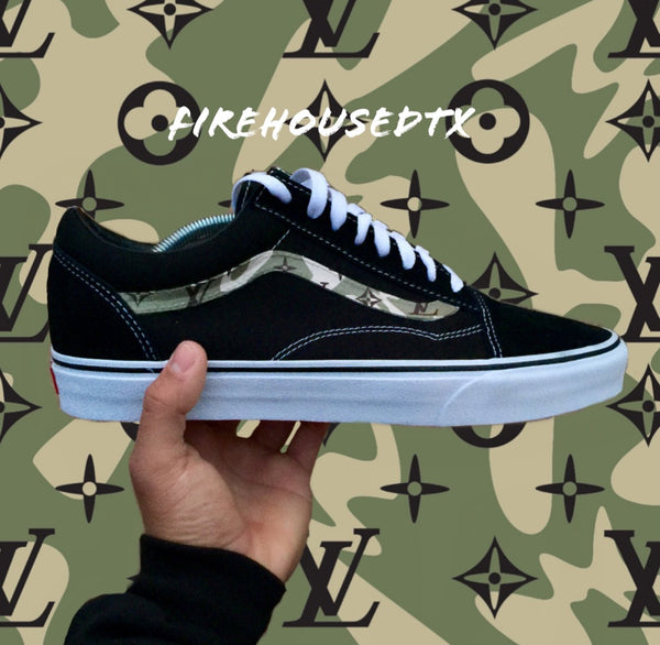 Custom LV Camo Vans Classic The Firehouse The Firehouse - The Firehouse DTX