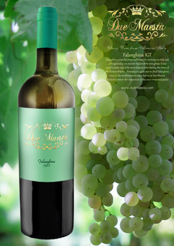 FALANGHINA DUE MAESTA': A DELICATE AND FRUITY WHITE WINE