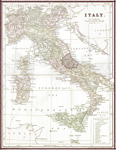 Due Maestà Italy map