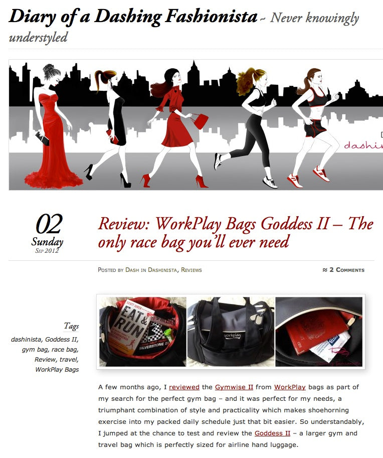 goddess II travel bag review diary dashing fashionista 1