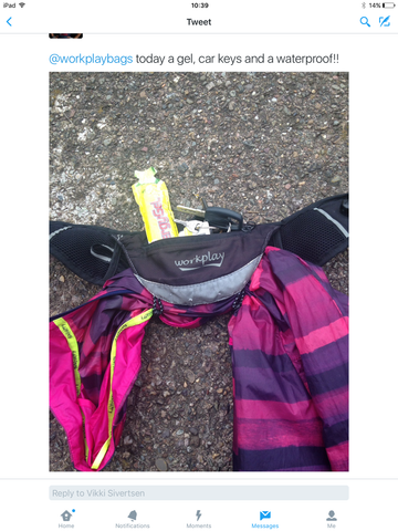 What you can carry in the Fleetfoot running bag