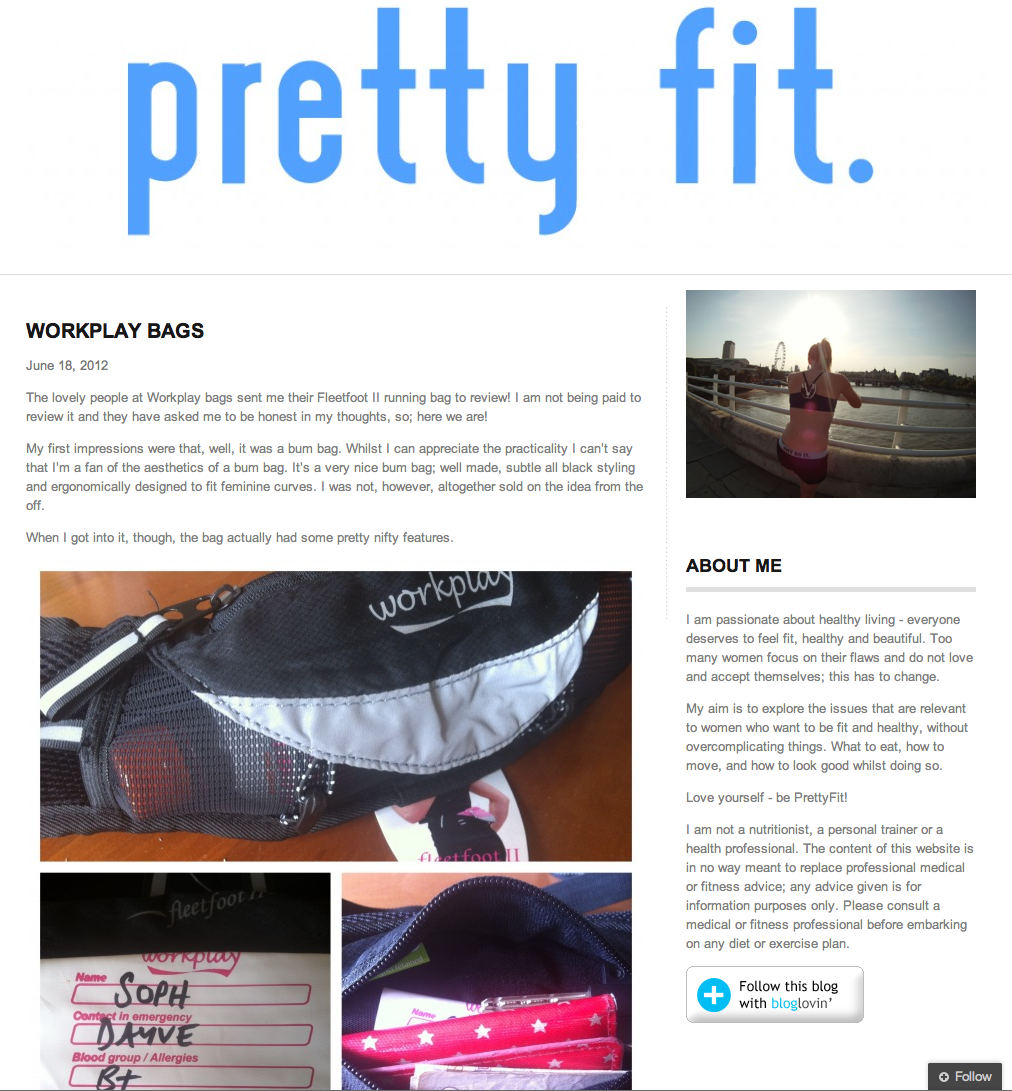 Fleetfoot II running belt review Pretty Fit blog 1