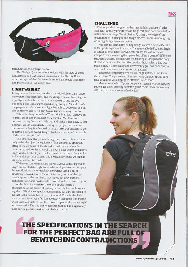 Sports Insight magazine goddess ii gym bag 2