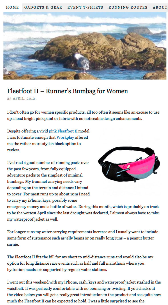 bumbag fleetfoot 3 warrior women runner 1