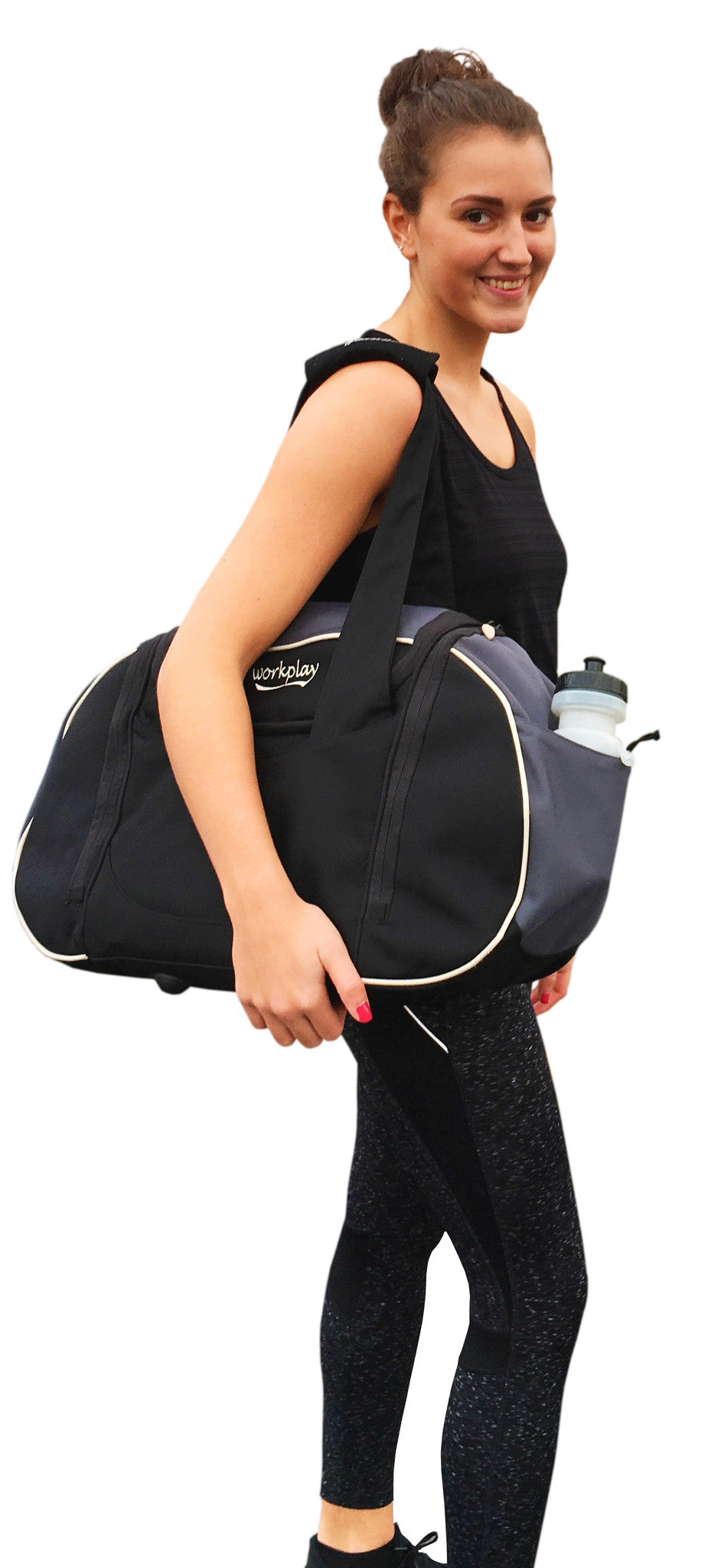 Ladies Organised Gym And Travel Bag With Water Bottle Compartment