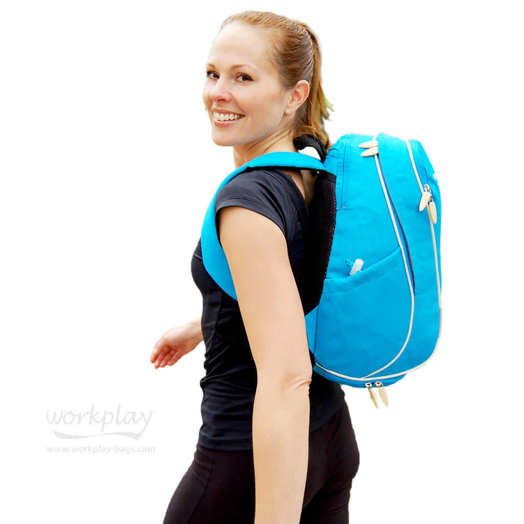 Gymwise Blue Womens Gym Backpack perfect for walking to work ... 85b44e85c0