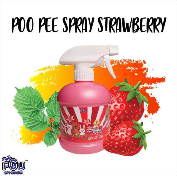 POO-PEE SPRAY STRAWBERRY-  SPRAY MAGIK PENGHAPUS BAU HANCING LITTER BOX DAN DI DALAM RUMAH