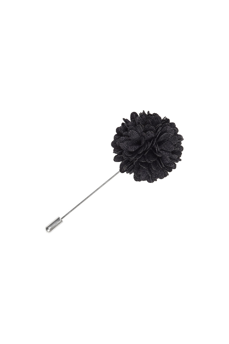 Charlie Charcoal Lapel Pin