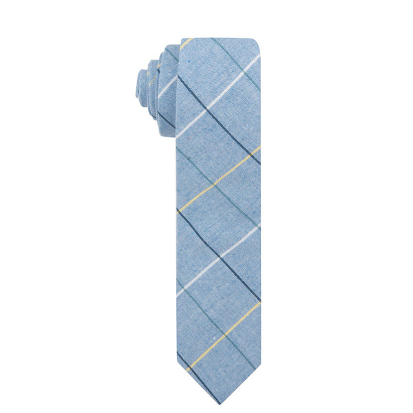 Clark Skinny Light Blue Cotton Necktie