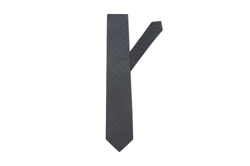 Dark Steel Silk Necktie