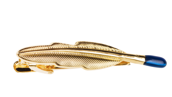 Feather Gold Tie Clip