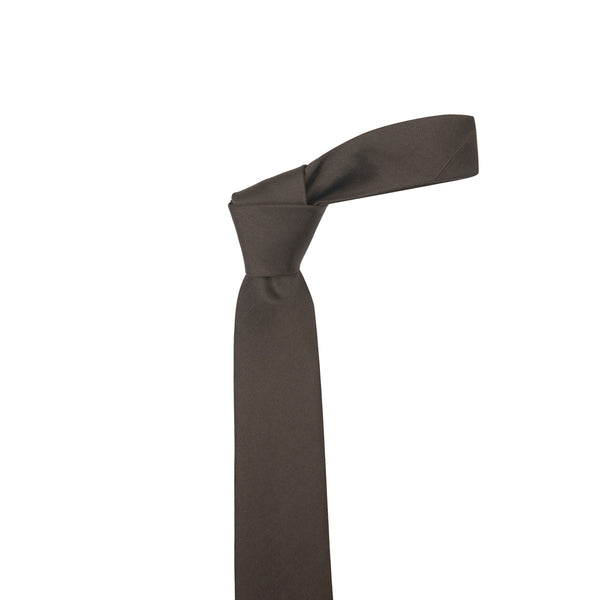 Herringbone Brown Silk Necktie