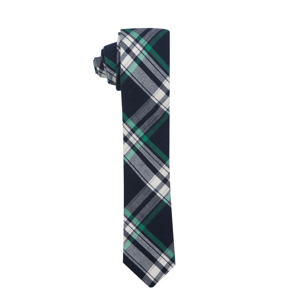 Mulberry High Plaid Slim Cotton Necktie