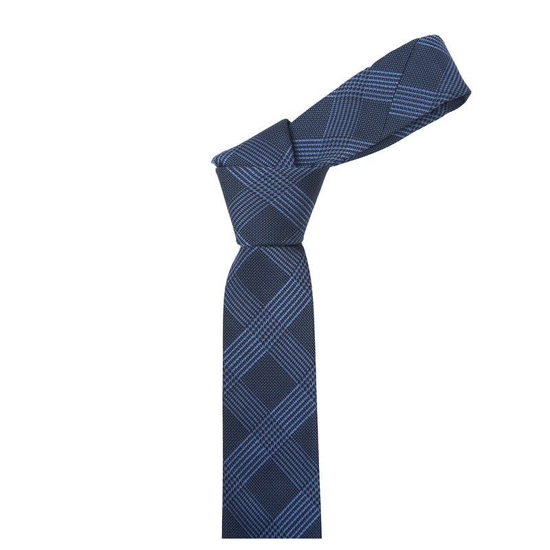 Prince of Wales Navy Silk Necktie