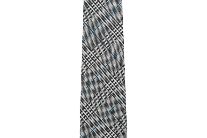 Prince of Wales Black & White Plaid Necktie