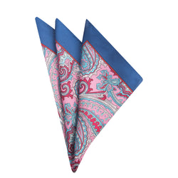 Red Paisely Pocket Square