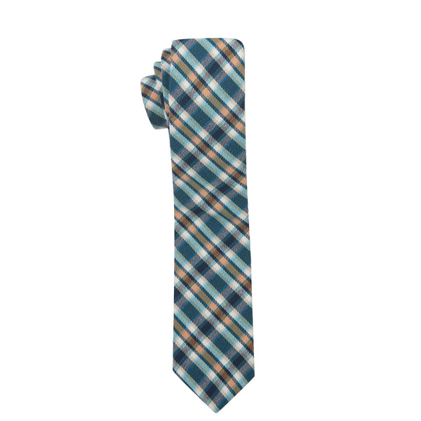 Scott Plaid Slim Cotton Necktie