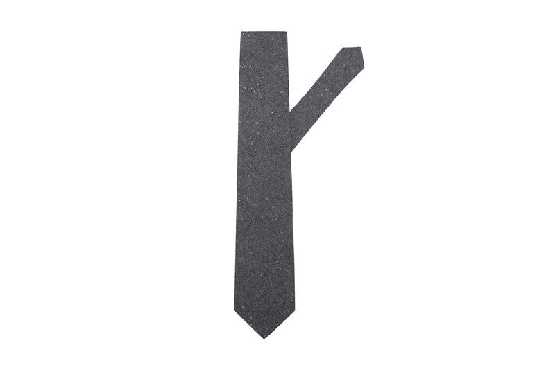 Speckled Dark Grey Necktie