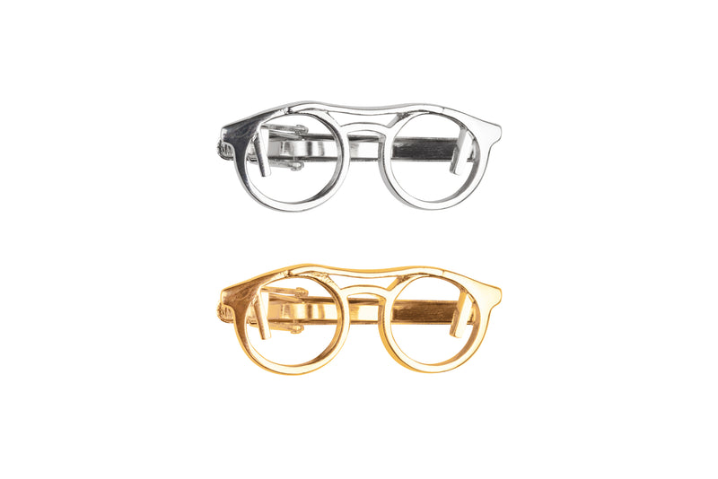Spectacles Gold Tie Clip