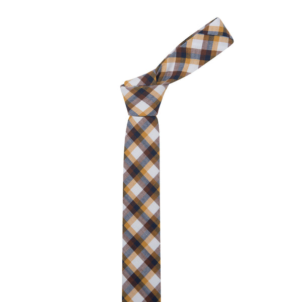 Titan Check Slim Cotton Necktie