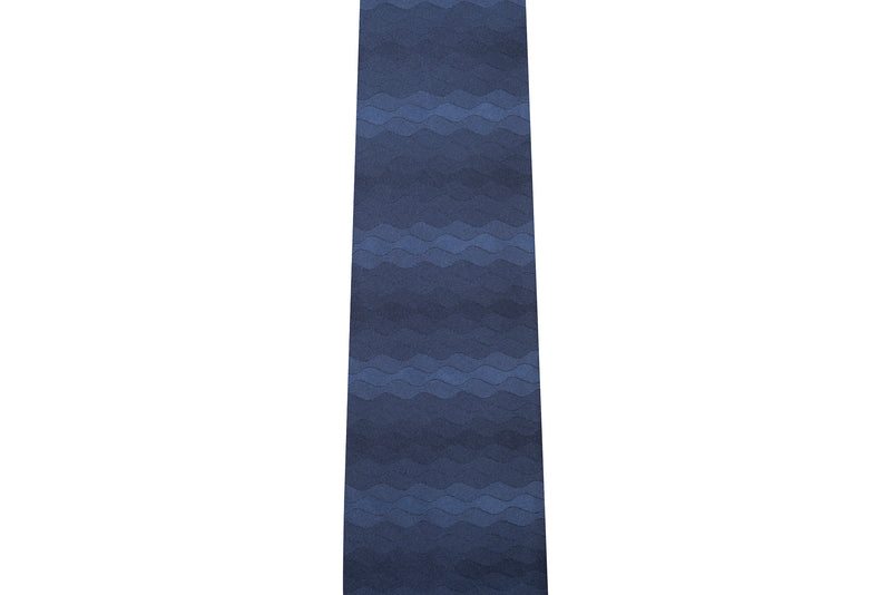 Wave Navy Silk Necktie