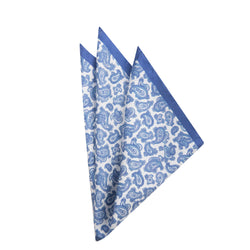 Blue Paisely Pocket Square