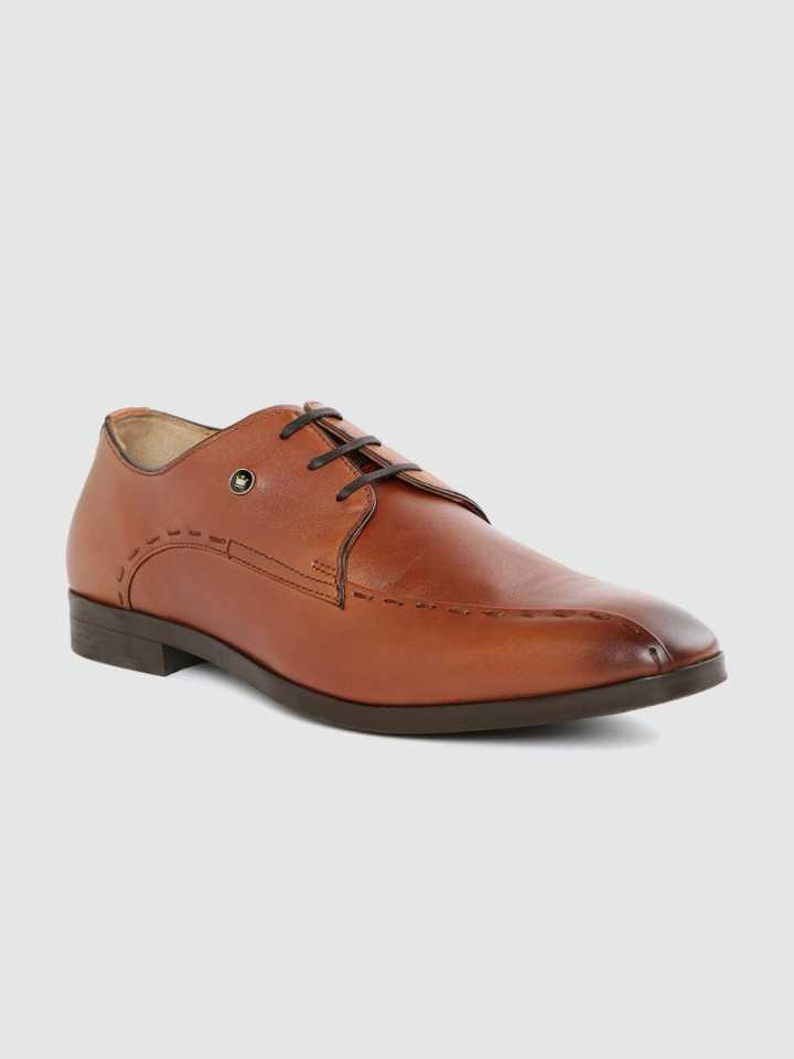 Louis Philippe Tan Derby Shoes