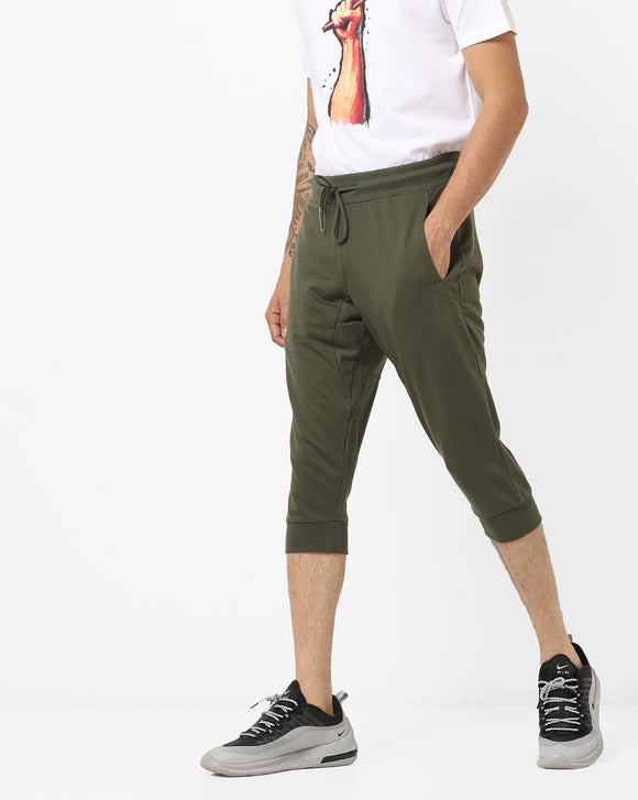 Mid-Rise Capris with Insert Pockets