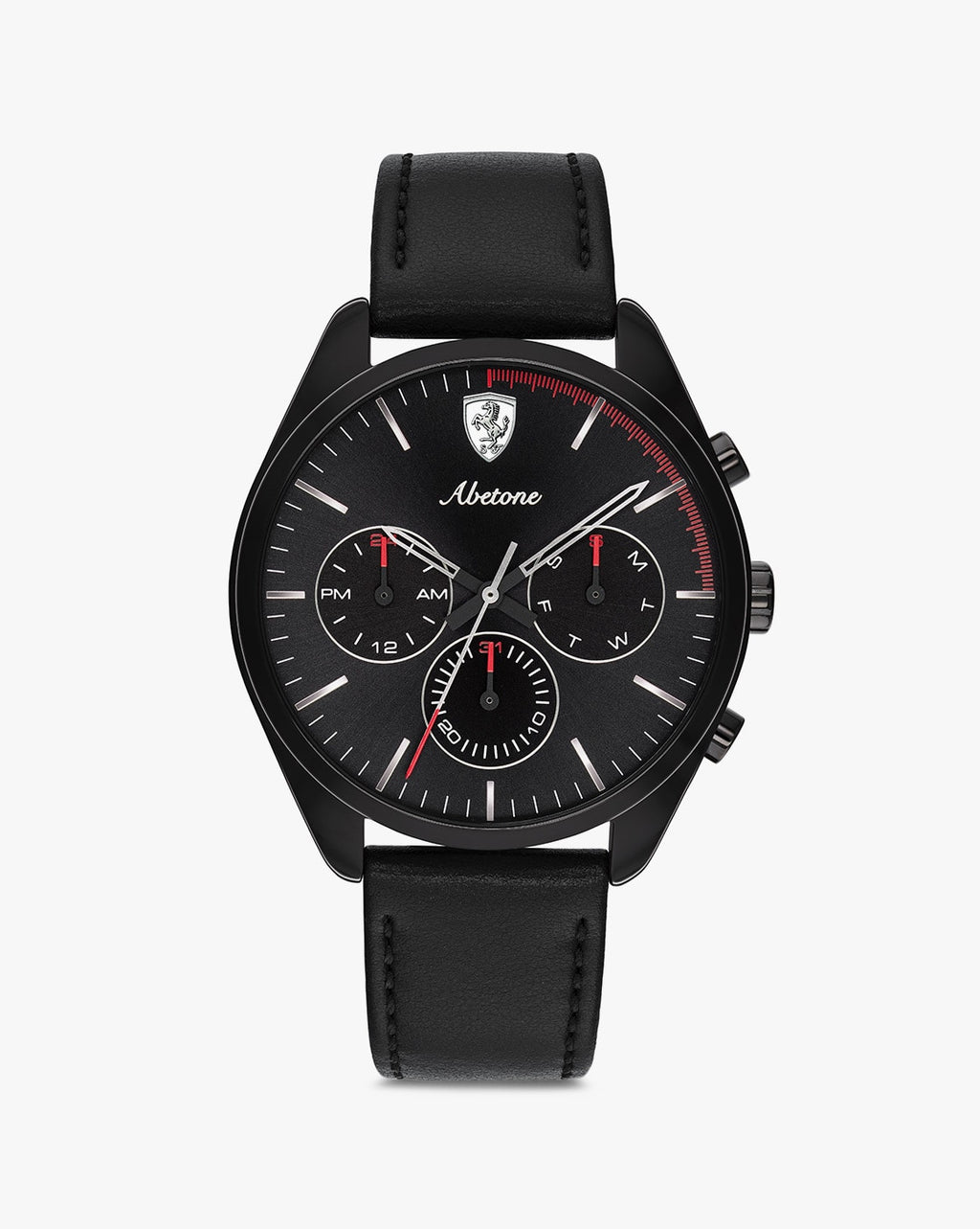 830503 Chronograph Wrist Watch with Genuine Leather Strap