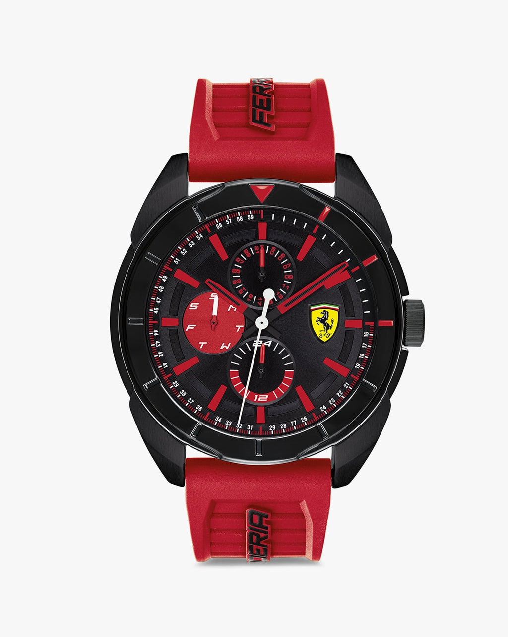 830576 Chronograph Watch with Silicone Strap
