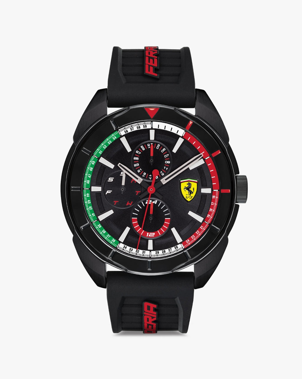 830577 Chronograph Watch with Silicone Strap
