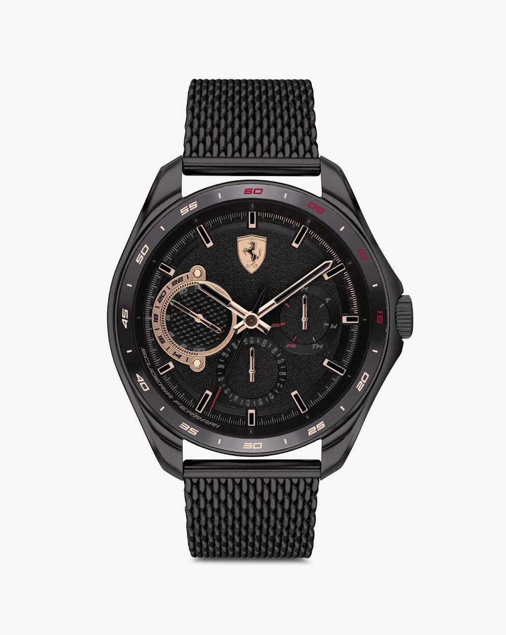 830686 Chronograph Watch with Textured Dial