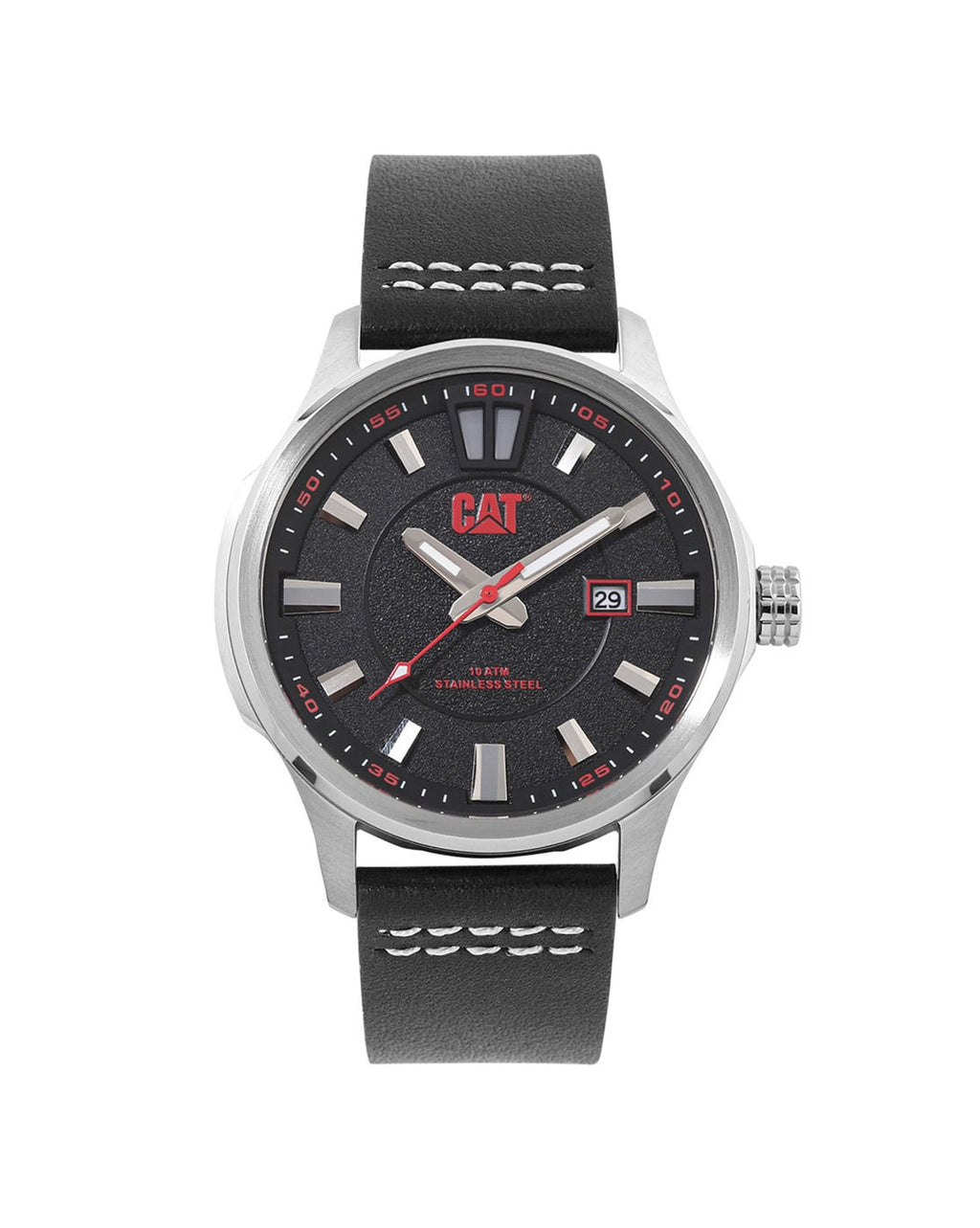 AG.141.34.128 Analogue Watch with Leather Strap