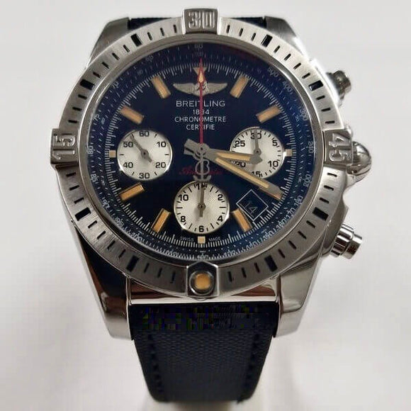 Breitling Chronomat 44 Onyx Black Dial Swiss ETA 7750 Valjoux Automatic Watch