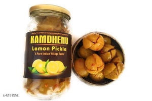 Homemade Organic Lemon Pickle