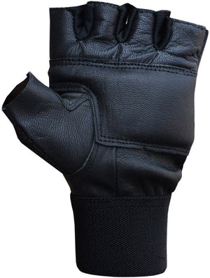 Triumph Power Leather Gym Gloves Black
