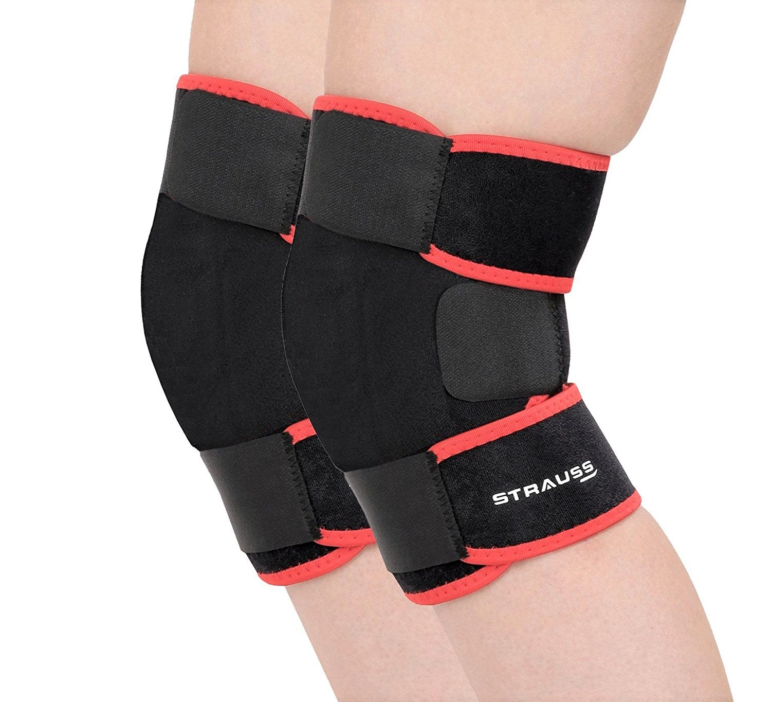 Strauss Adjustable Knee Support, Free Size, (Pair)