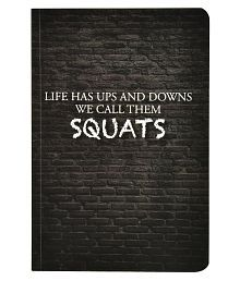 A5 Squats Soft Bound Notebook (Matte Finished Cover, 120 Pages, 80 GSM, Round Edges)