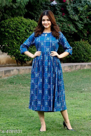 Stylish Rayon Long Kurtis*