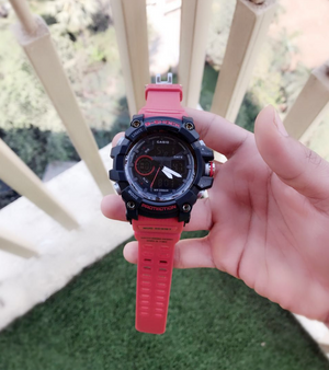 Flaming Red Sports Watch