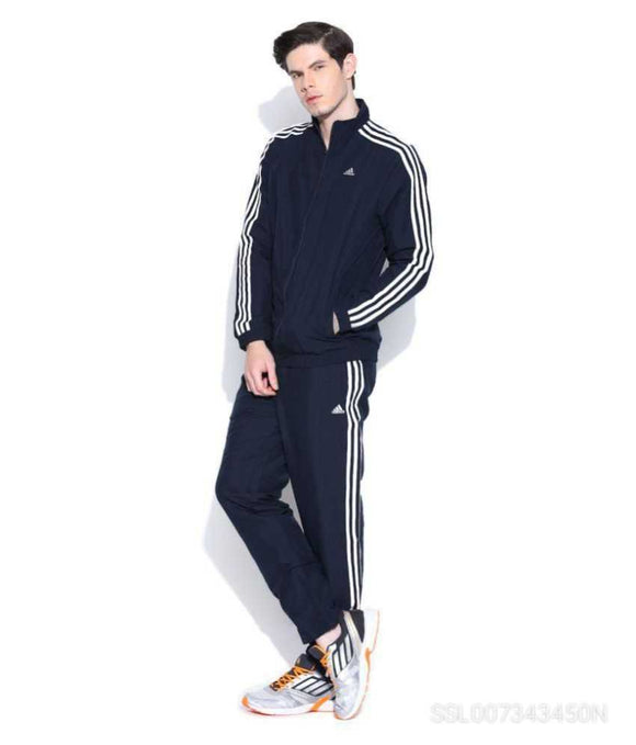 Adidas Stylish Sports Track Suit For Mens In Blk