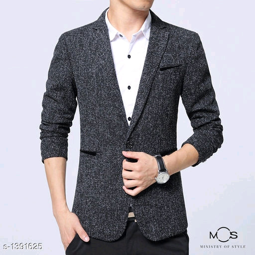 Stylish Men's Cotton & Polyester Blend Blazers