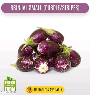 Brinjal small (purple and stripes) lot - 3 KG