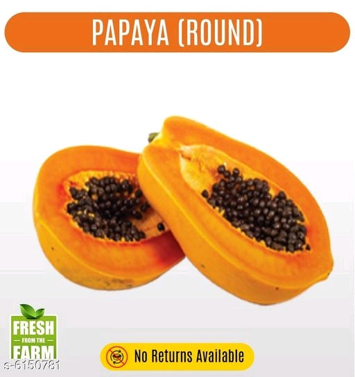 Papaya (round) lot - 10 KG