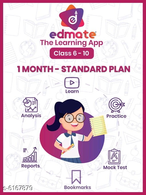 1-Month - Standard Plan - Classes 6 to 10 Edmate