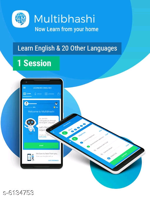 1 Session Learn English & 20 Other Languages