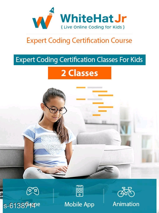 2 Classes Expert coding certification classes for kids