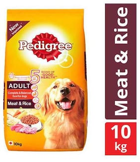 Pedigree Dry Dog Food - Meat & Rice for Adult Dogs 10 kg