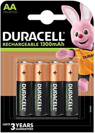 Duracel rechargeable AA 1300mAh Batteries (pack of 4)