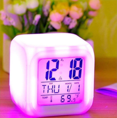 TRIPZIRA Digital COLOR CHANGING Alarm Clock - Pack of 1